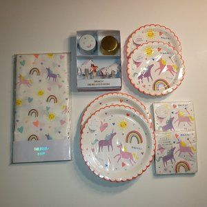 Unicorn, Rainbow and Hearts Paper Party